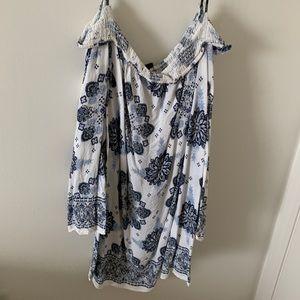 Forever 21+ paisley off the shoulder dress summer